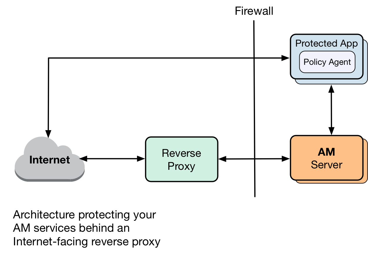 exposing only a reverse proxy to the internet