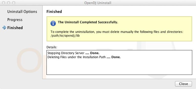 OpenDJ 2 6 > Installation Guide
