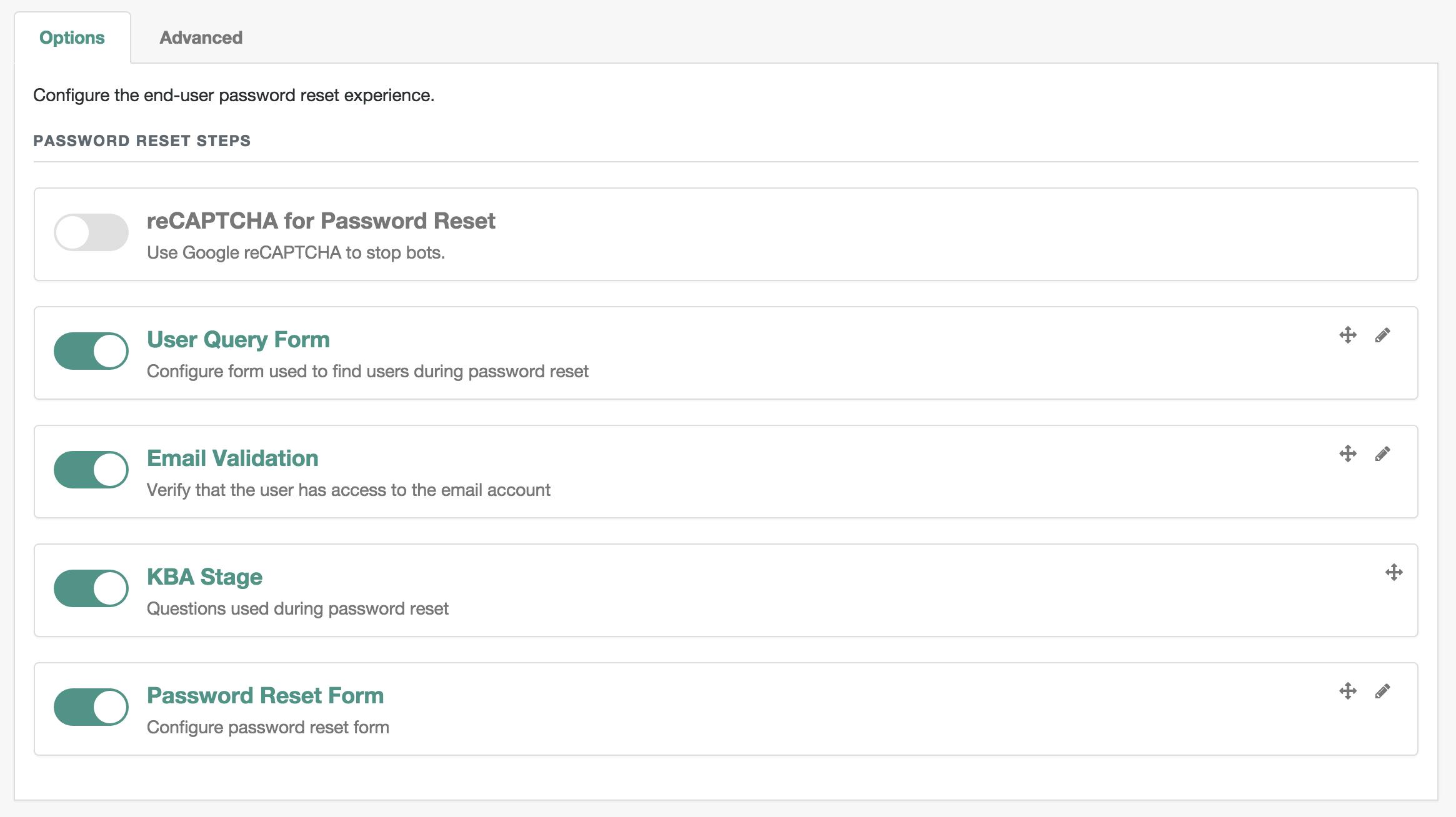 OpenIDM Self Service UI Password Reset Sequence